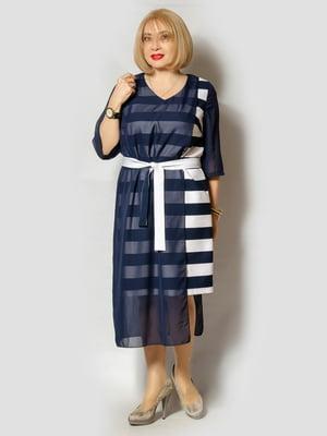 Платье темно-синее в полоску | 5534537