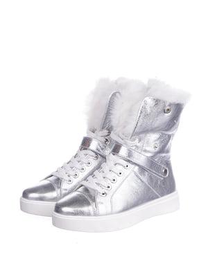 Черевики сріблястого кольору | 5507813