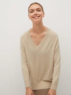 Пуловер бежевий | 5529529