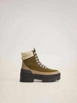 Ботинки болотного цвета | 5529553