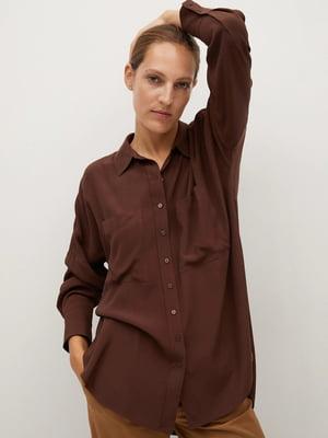 Рубашка шоколадного цвета | 5529638