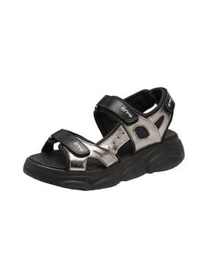 Сандалі чорно-нікелевого кольору - Broni - 5534975