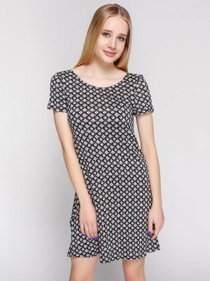 Платье черно-белое в ромбы | 5535124