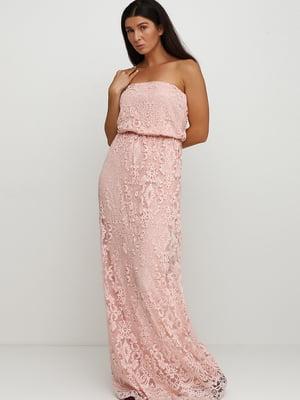 Сукня персикового кольору з візерунком | 5535195
