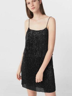 Платье черное с декором | 5535391
