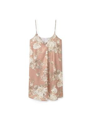 Платье коричневое в цветочный принт | 5535460