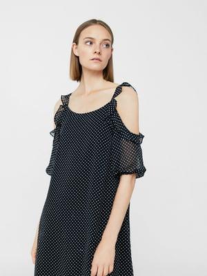 Платье черное в горошек | 5535465