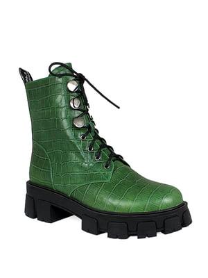Ботинки зеленые | 5535571
