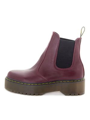 Ботинки бордовые | 5535597