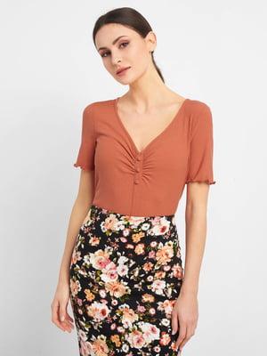 Блуза теракотового кольору | 5535806