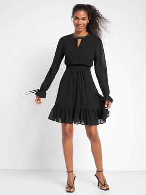 Платье черное с декором | 5535827