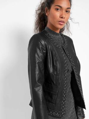 Куртка черная с декором | 5535849