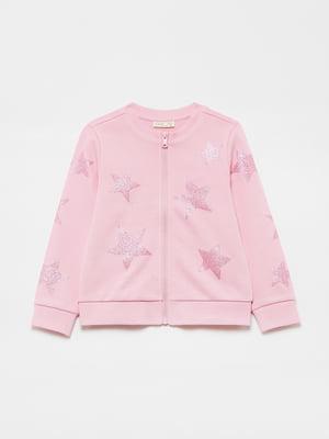 Кардиган розовый в принт | 5536314