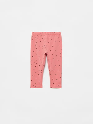 Легінси рожеві в принт | 5536418