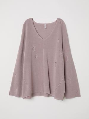 Пуловер бузкового кольору | 5535651