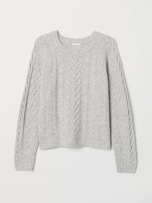 Джемпер светло-серый   5535659