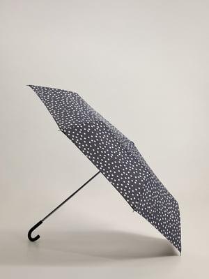 Зонт темно-серый в горох | 5535941