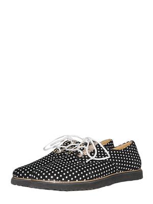 Туфлі чорно-білі в горошок | 5526189