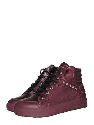 Ботинки бордовые | 5531446