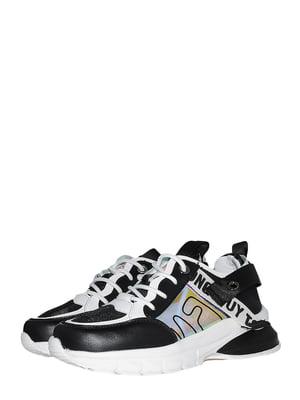 Кроссовки черные с надписью | 5534587