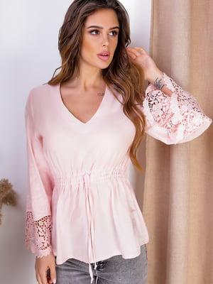 Блуза кольору пудри | 5536965