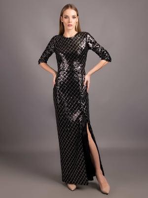 Платье черное в клетку - Andre Tan - 5537673