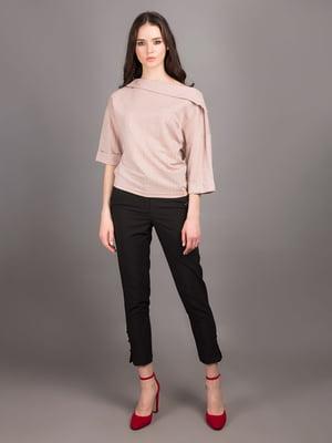 Блуза пудрового кольору в смужку | 5537757