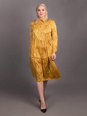 Сукня жовта в принт | 5538014