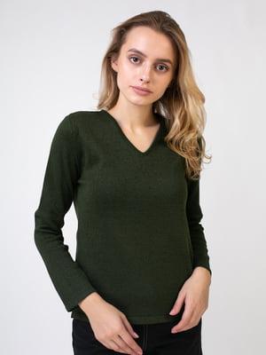 Пуловер темно-зеленый | 5516028