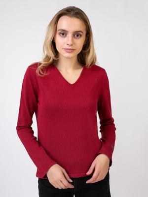 Пуловер бордовий | 5516027