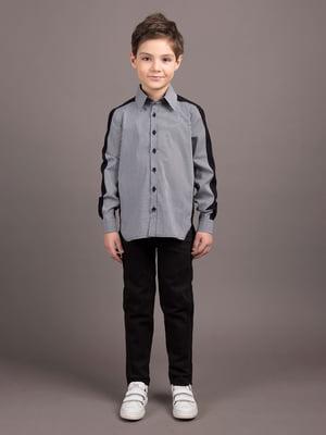 Рубашка серо-черная | 5537297