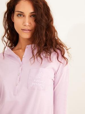 Нічна сорочка бузкового кольору | 5538214