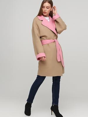 Пальто бежево-рожеве | 5538316