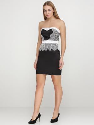 Сукня чорна з мереживом | 5538377