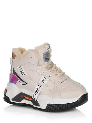 Ботинки бежевые с логотипом | 5539140