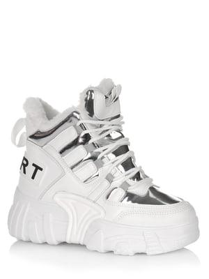 Ботинки белые с логотипом | 5539174