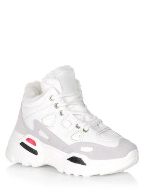 Черевики білі з логотипом | 5539175