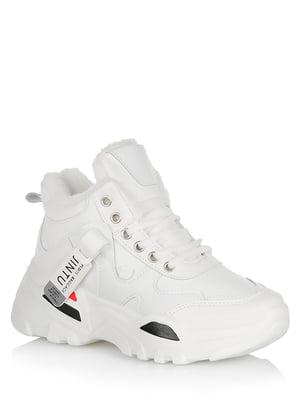 Ботинки белые с логотипом | 5539176