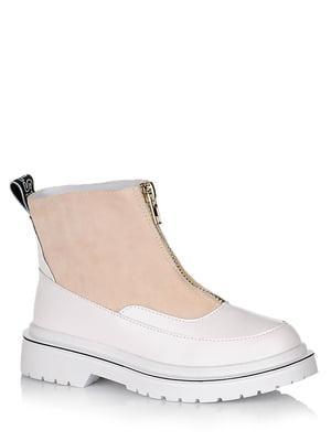 Ботинки бело-бежевые | 5539179