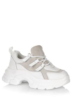 Кроссовки бело-серые | 5539183