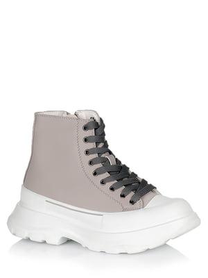 Ботинки серо-белые | 5539211