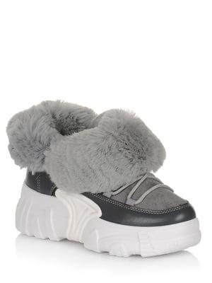 Ботинки серые | 5539213
