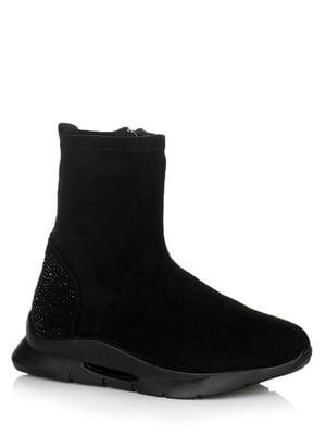 Ботинки черные с декором | 5539221