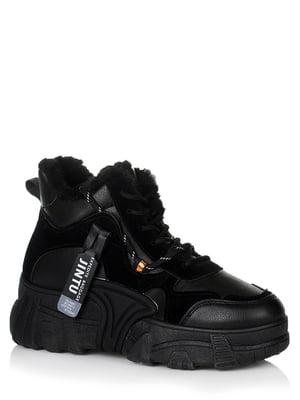 Ботинки черные с логотипом | 5539248