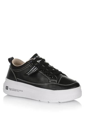 Кроссовки черные с логотипом | 5539261