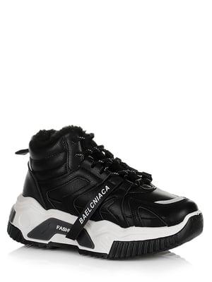Кросівки чорні з логотипом | 5539265