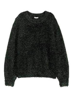 Джемпер темно-зелений з блискітками | 5539436