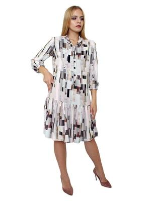 Платье в абстрактный принт   5539529