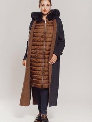 Пальто синьо-коричневе | 5539782
