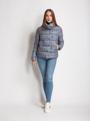 Куртка сине-белая в принт | 5539786